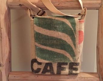 Burlap Coffee Bag Cross body bag