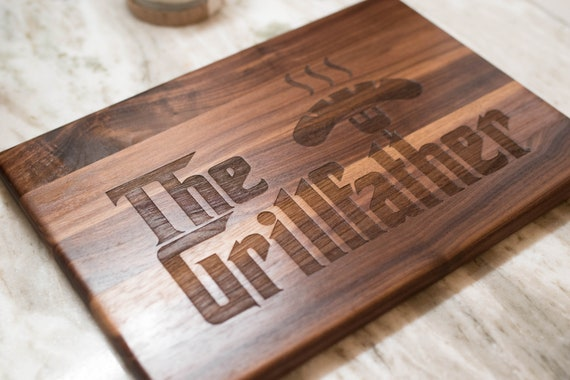 Fathers Day Gift for Dad - Cutting Board - The Grillfather