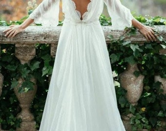 Vassiliki Wedding Dress backless