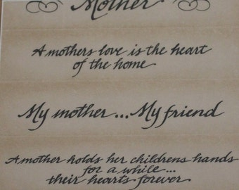 all my memories vellum sayings mother