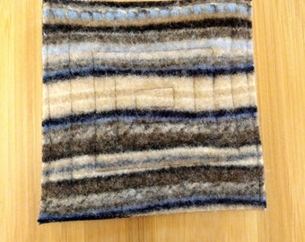 Coasters, Repurposed Coasters, Wool, Wool Coasters