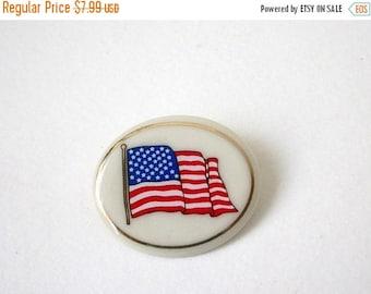 ON SALE Vintage LENOX Porcelain Patriotic Pin 91217