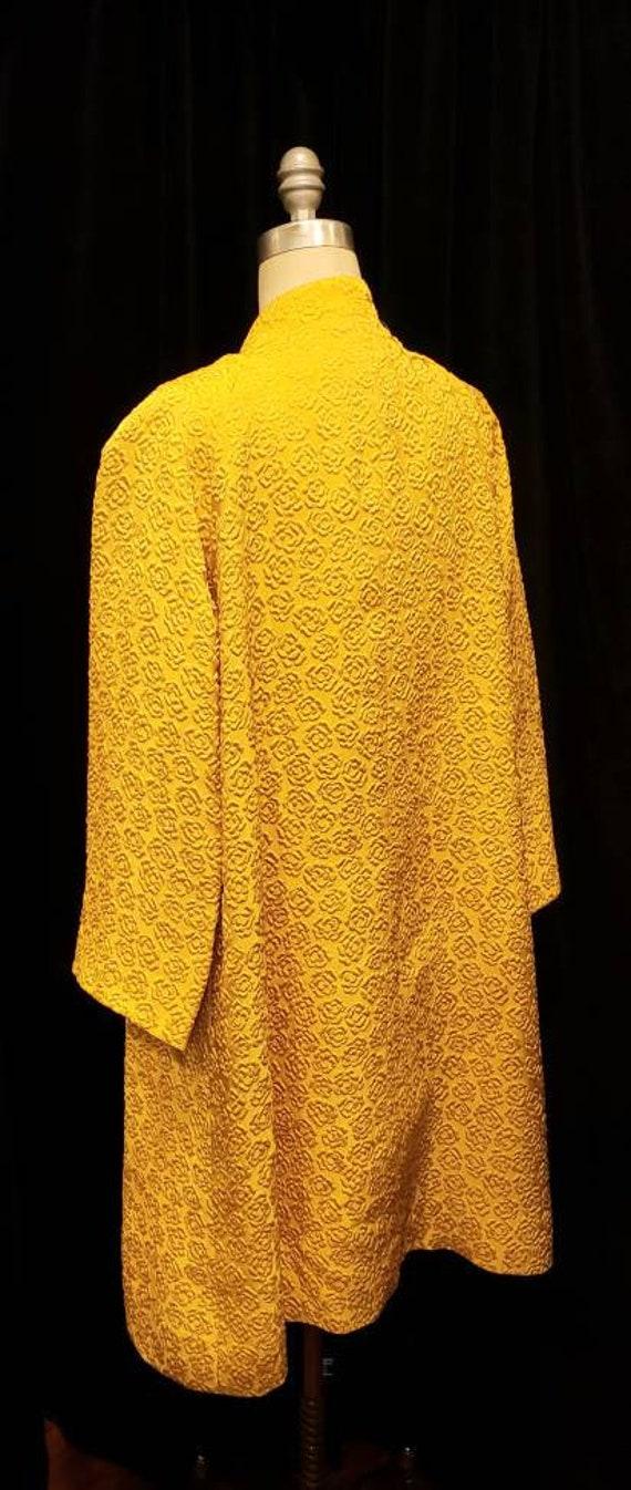 Vintage ~ Womens ~ Gold ~ Embossed ~ Dress & Coat… - image 3