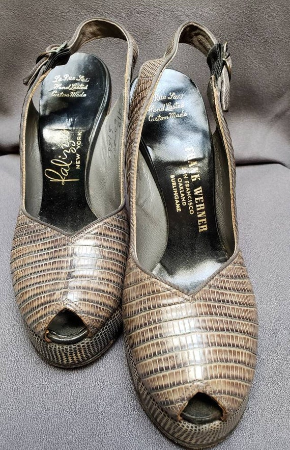 Womens ~ Grey Skins ~ Platform ~ Shoes ~ Peeptoe … - image 2