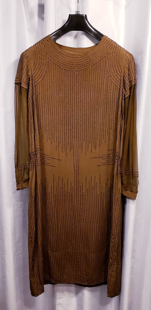 Incredible ~ Day or Evening ~ Brown ~ Beaded ~ Sil