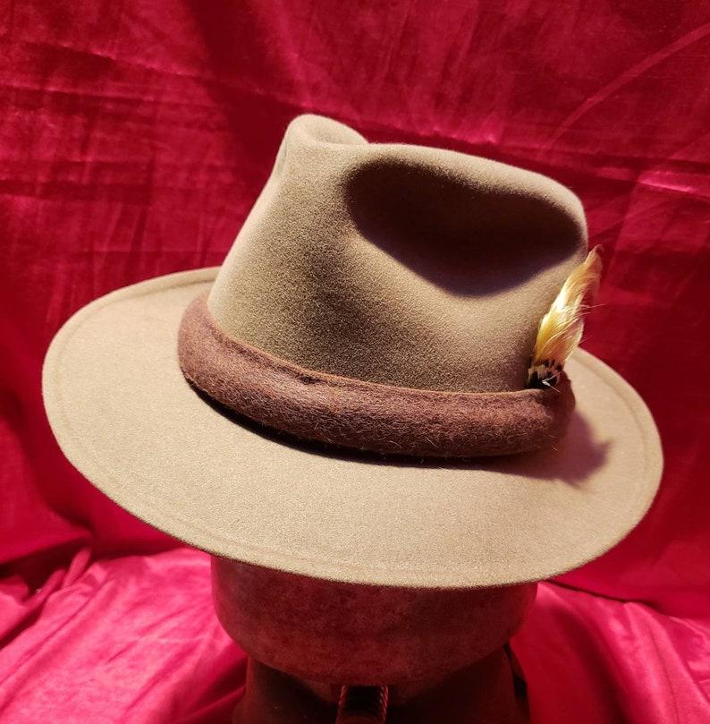 1bab091c563 Vintage Men's Hat Fedora Roos Bros Dobbs   Etsy