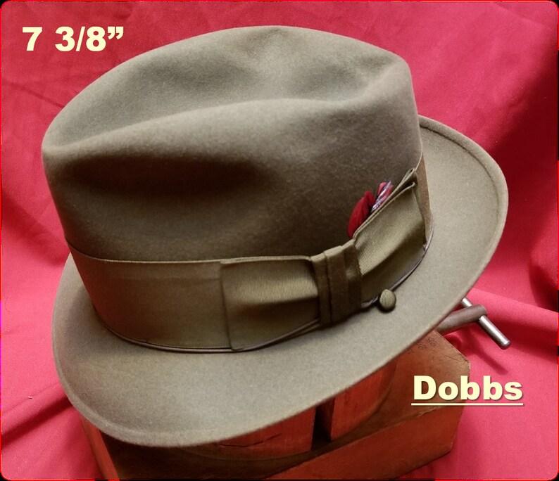 48bac32ad1614 Vintage Fedora Taupe 7 3 8 Stingy Short Brim