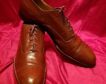 Vintage ~ Mens ~ Regal ~ Vogue ~ Gatsby ~ Captoes ~ Rockabilly ~ Original ~ Swing ~ 30's ~ 40's ~ Larger Shoe ~ HTF ~ Unworn ~ Deadstock