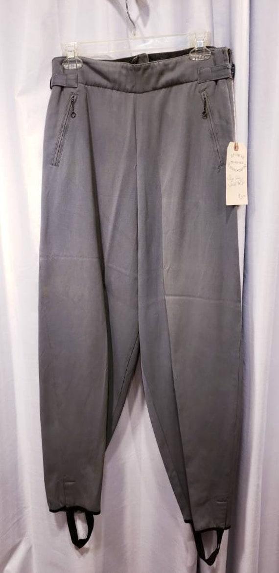 Women's ~ Trousers ~ 1940's ~ Side Zip ~ Green ~ W