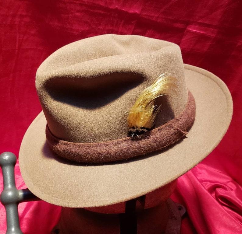 af34e548a5d ... Vintage Men's Hat Fedora Roos Bros Dobbs ...
