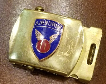 WW2 11th Airborne Belt buckle, great condition L@@k!!!!