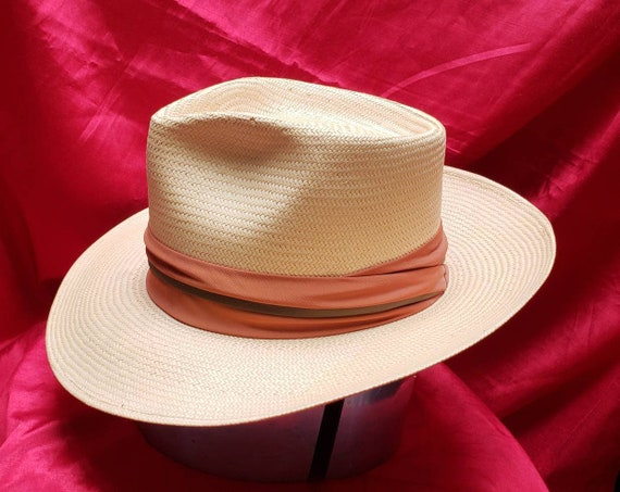 Vintage Men s Straw Hat Fedora Wiltons Sacramento  6a0947dd9b3