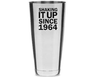 Shaking It Up Custom Laser Engraved 30 (Thirty) ounce Boston Shaker Tin - Perfect Gift for Cocktail Lovers
