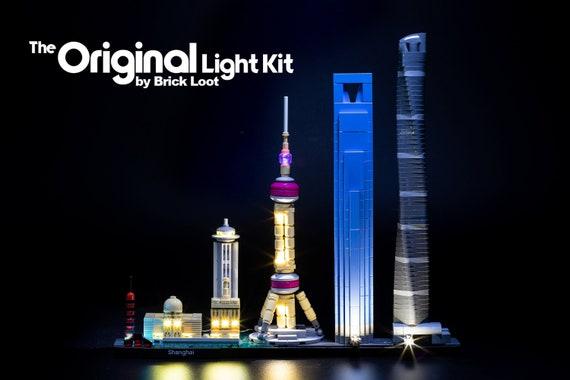 DIY Illuminated Skyscraper Card Tower Lamp Kit