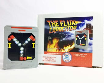 Exclusive Brick Loot LEGO Flux Capacitor with LED Light Kit