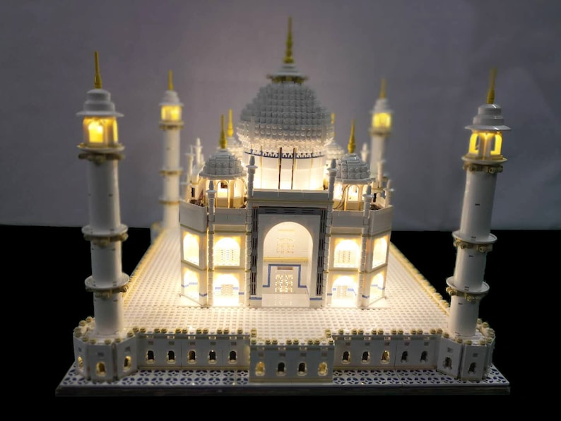 Led lighting kit for lego taj mahal set etsy