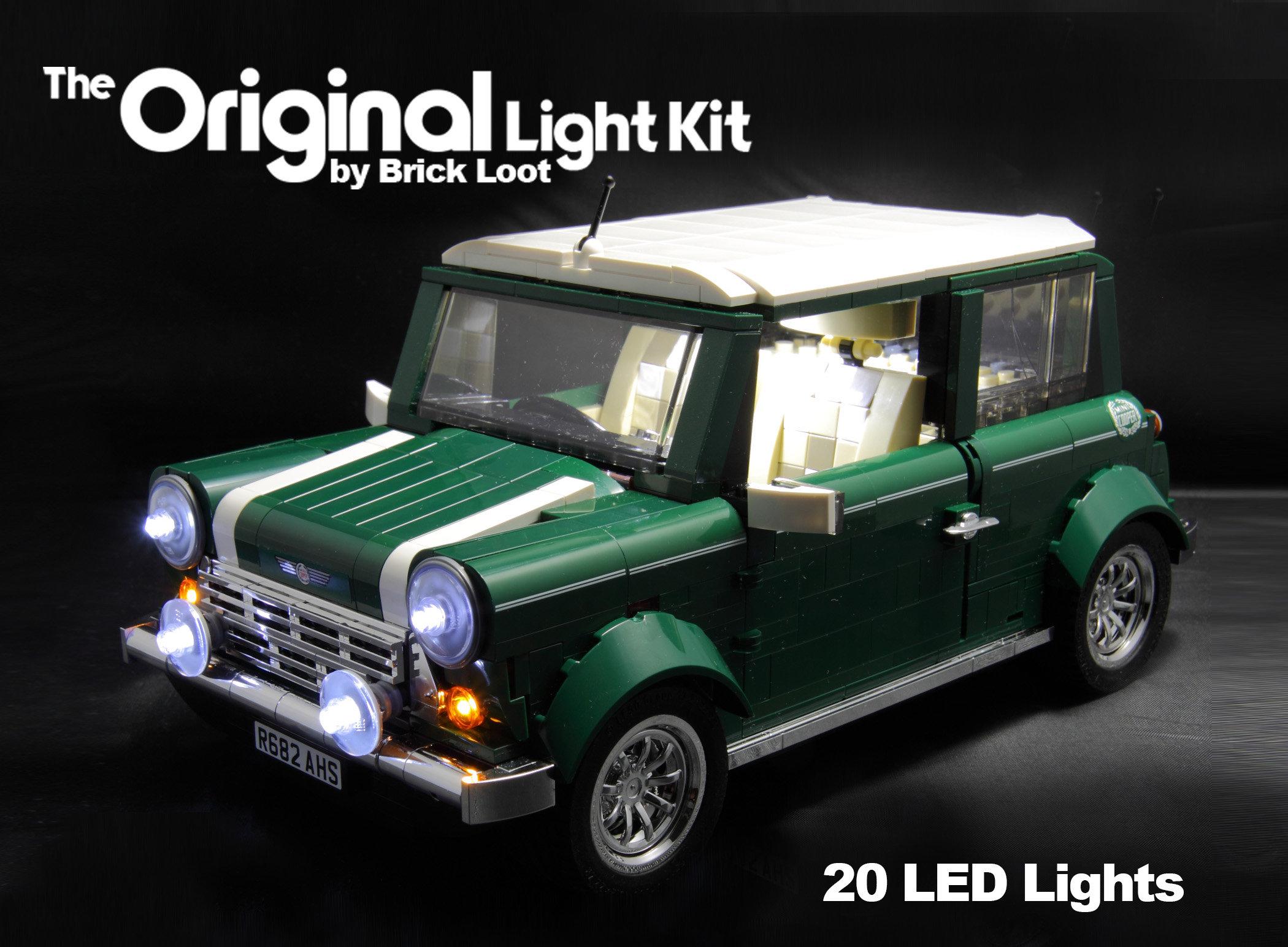 led lighting kit for lego 10242 mini cooper etsy. Black Bedroom Furniture Sets. Home Design Ideas