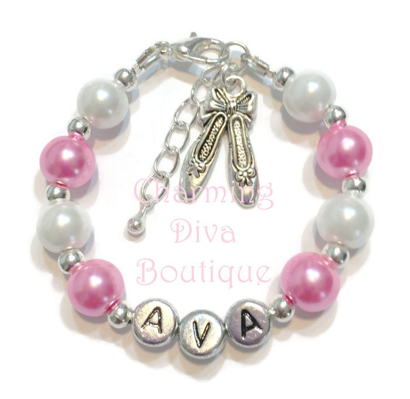 personalized dance girls bracelet-kids/girls/teen/children/ladies/women-ballerina/ballet shoes dance recital/birthday/holiday gi