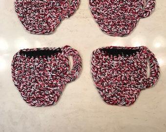 Hand Crochet Coffee Cup Coasters