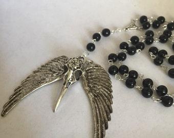 Morrigan Devotional Crow Prayer Beads