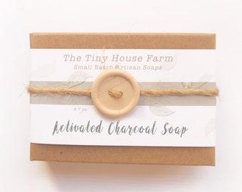 Black Soap, CHARCOAL SOAP, Handmade Soap, Organic Soap, unscented, Natural Soap, bath and beauty,skin care, Facial Soap, Artisan Soap