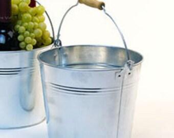 Galvanized Buckets with Chalkboard, set 0f 8 | Galvanized Tin Pail | Retirement Bucket List | Wedding Sparkler Bucket | Herb Planter