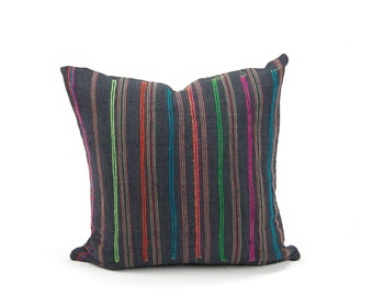 "18x18"" Vintage Hmong Pillow Cover"