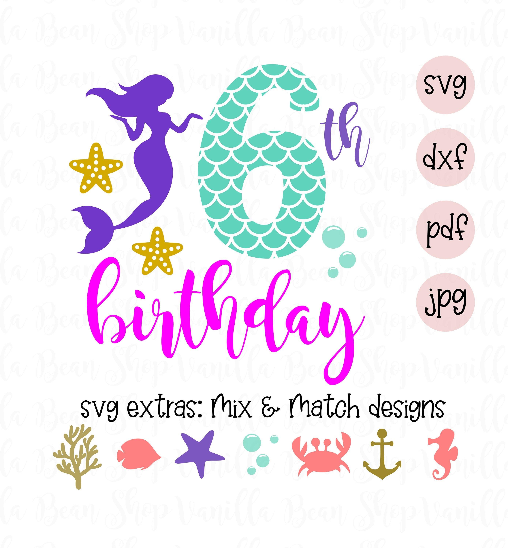 Mermaid Birthday SVG Mermaid Vibes Svg My Birthstone Is A Seashell Svg Mermaid Squad SVG Svg File for Cricut Silhouette Mermaid SVG