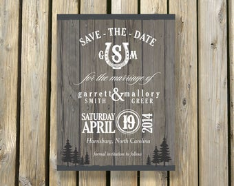 Rustic Horseshoe Logo - Wedding Save the Date