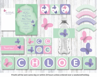 Butterfly Ultimate Baby Shower KIT!