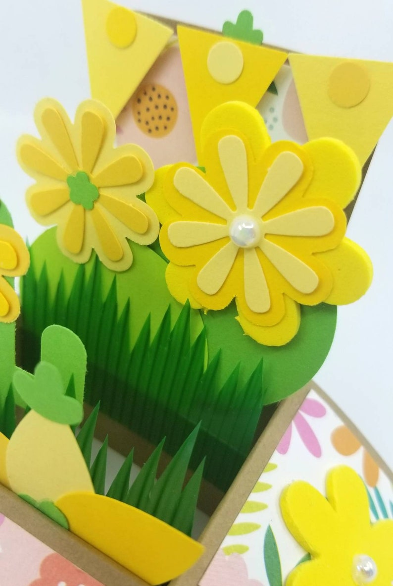 Yellow Flowers Popup Card