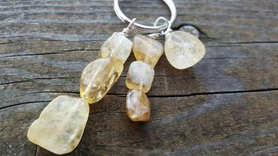 Natural Crystal Healing Hematite Chakra Hematite Reiki Keyring Cut Gemstone