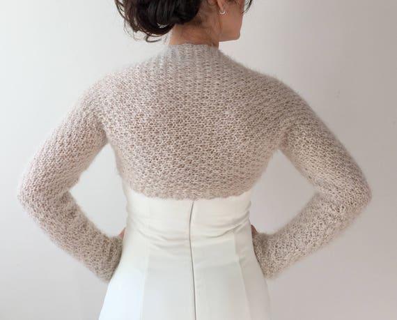 knit shrug Red bolero shrug evening jacket wedding shrug long sleeve lace sweater gift fast shipping crochet bolero XS-4X lacy top