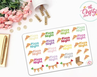 Pizza Night Stickers (#022)