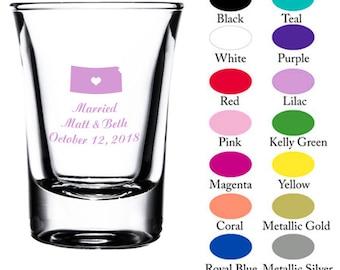 ec6a61b9 Kansas - Wedding Favor - Flute Shot Glass - Personalized Glassware - Custom  Favor - Wedding Gift - Bridesmaid - Groomsman