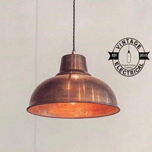 Salthouse XL Copper Industrial Factory Shade Light Ceiling | Etsy