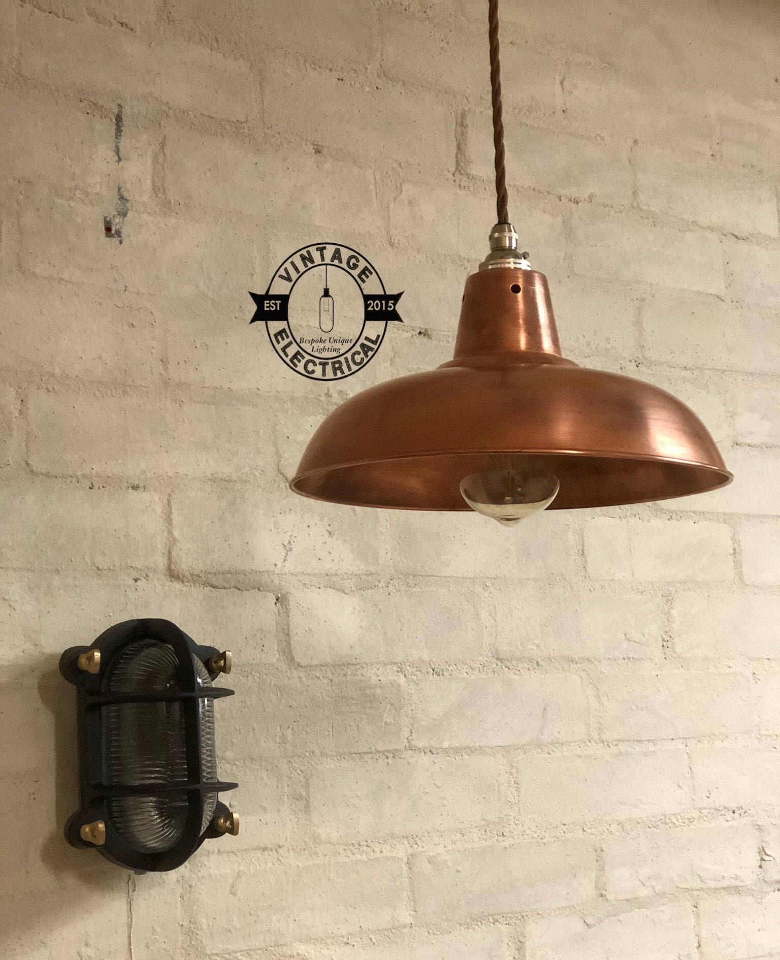 The Suffield Solid Steel Copper Coated Industrial factory shade ...