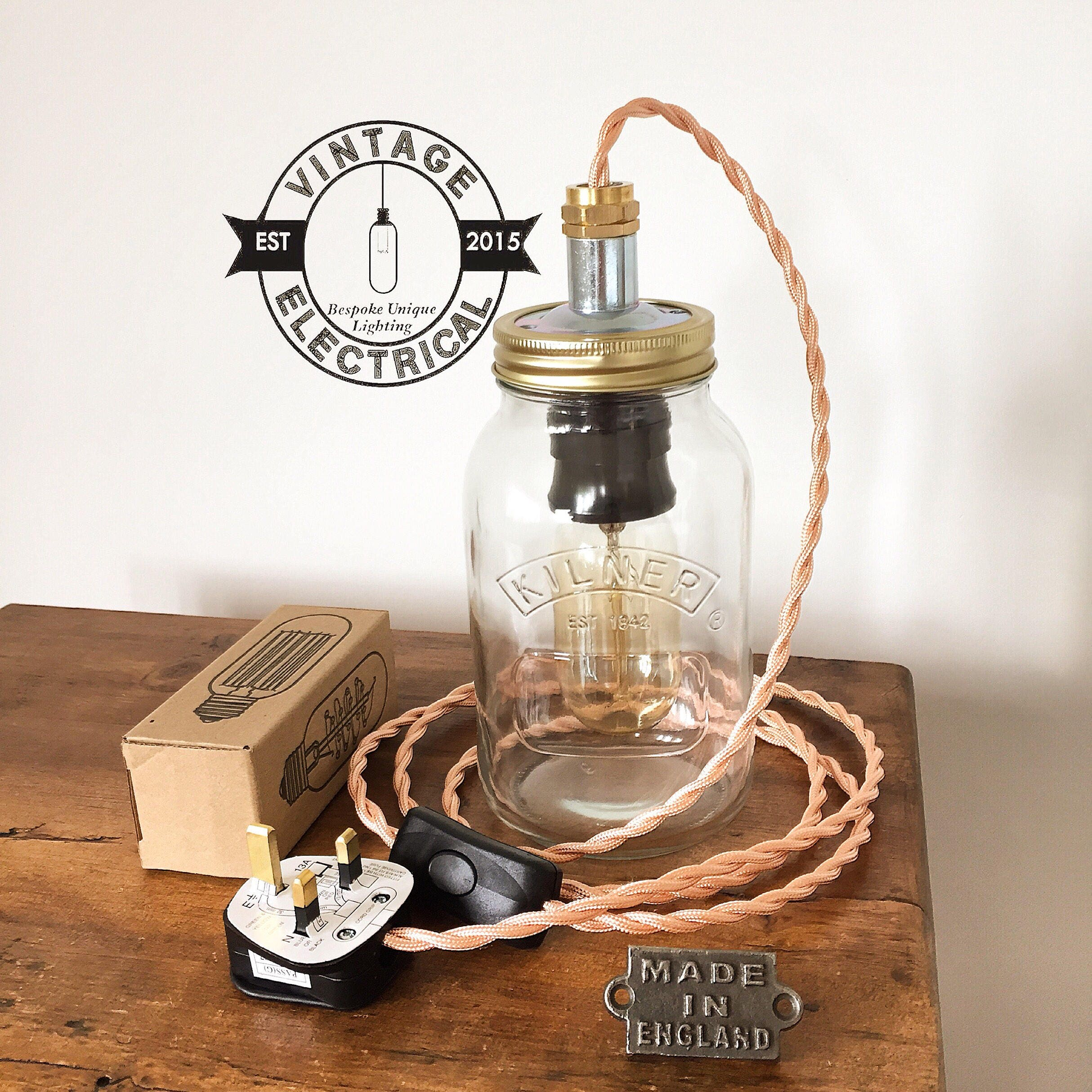 Table Lamp Wiring Uk Diagrams For Dummies A Switch The Kilner Copper Mason Jar Light Industrial Vintage Edison Rh Electrical Co Diagram
