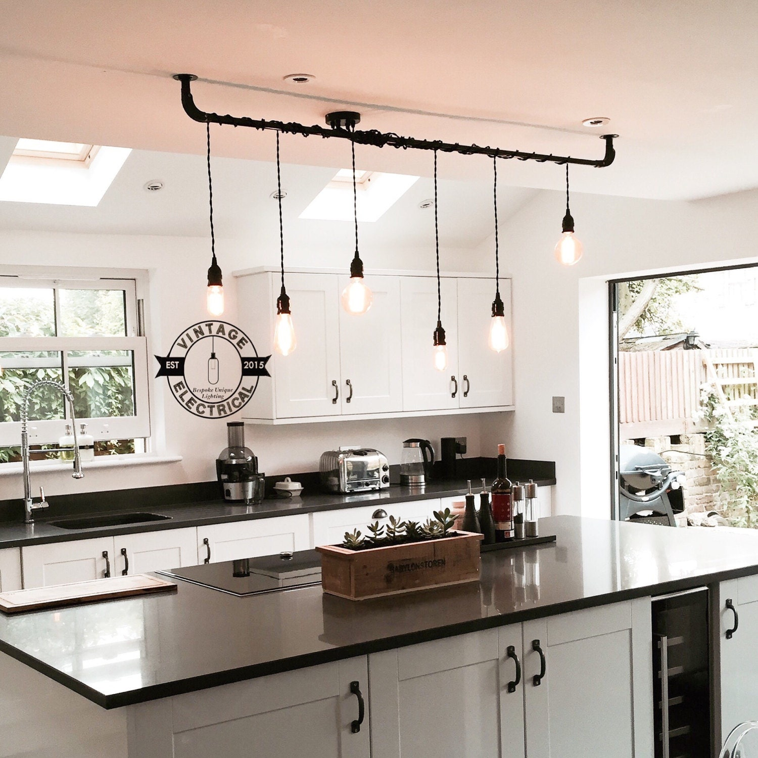 The Burnham 6 x pendant drop light hanging lights ceiling Etsy