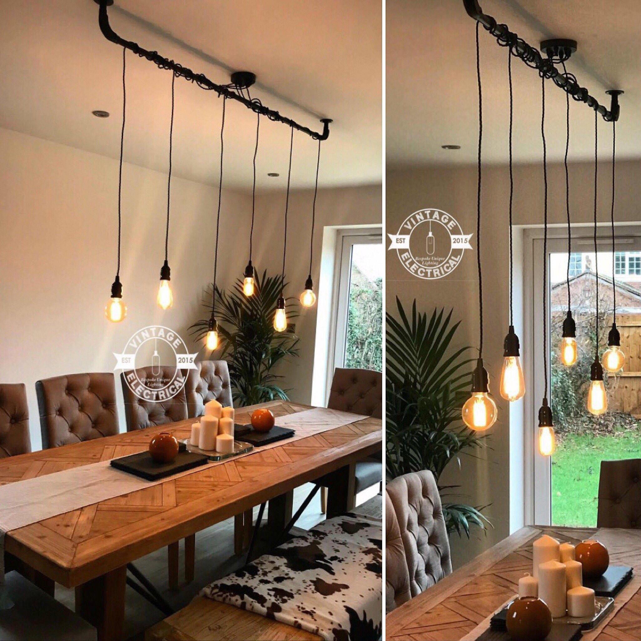 The Burnham 6 X Pendant Drop Light Hanging Lights Ceiling Dining