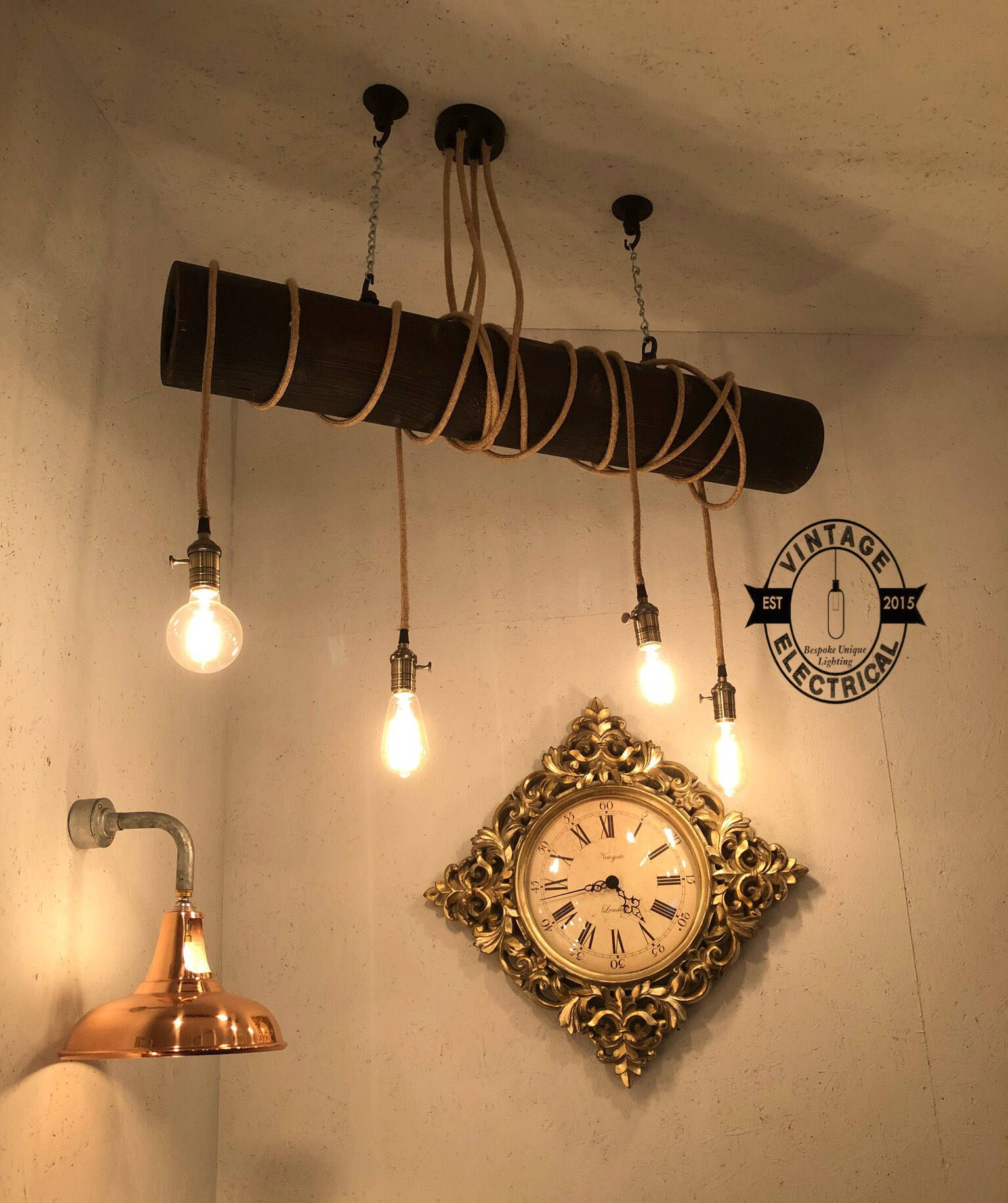 Dining Room Kitchen Table Edison Filament Lamps 1