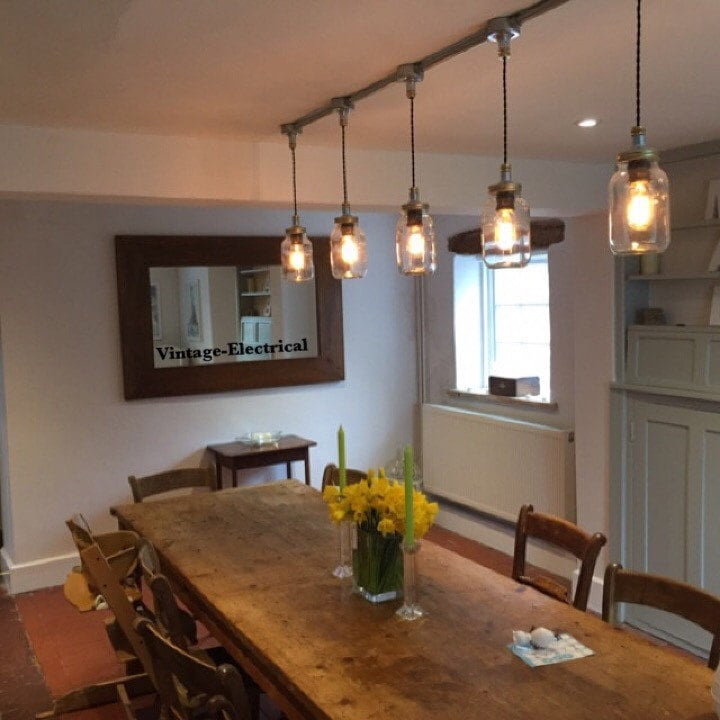 The Keswick 5 X Kilner Hanging Mason Jar Lights Ceiling
