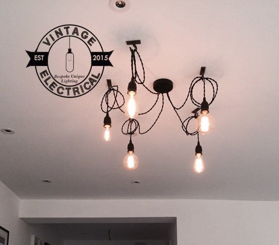 sneakers for cheap 53a75 5f7be The Martham 5 x pendant drop light hanging lights ceiling dining room  office kitchen table + e27 vintage edison screw filament lamps table