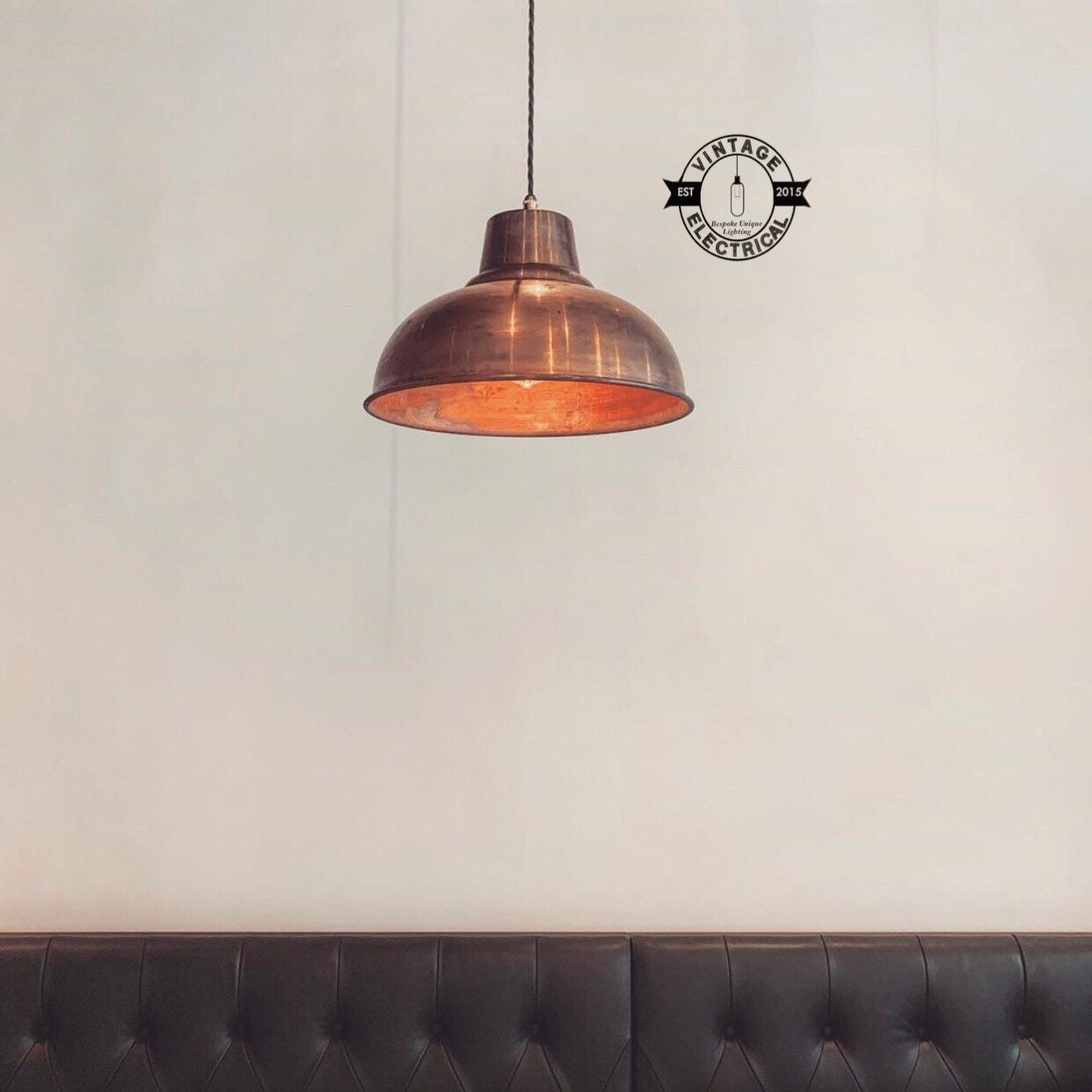 Salthouse XL~ Copper Industrial factory shade light ceiling dining ...