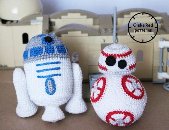 Star Wars Crochet Patterns Characters Bb8 And R2d2 Etsy