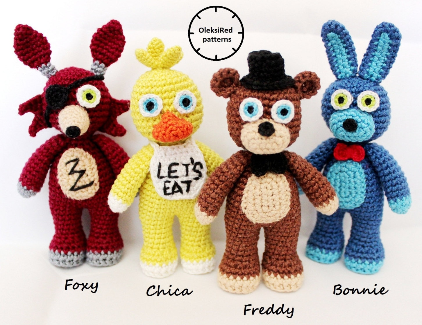 Five Nights At Freddys Fnaf Crochet Patterns Characters Etsy