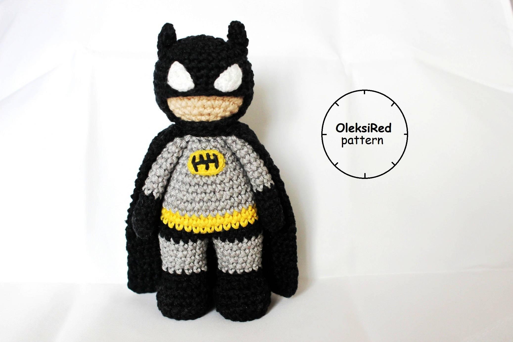 Batman amigurumi CROCHET PATTERN | Etsy