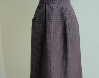 407798d4f0 1970s St Michael Wool Midi Pencil Skirt * Size Small