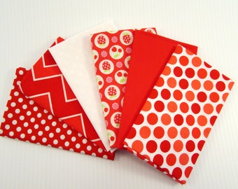 Riley Blake Flutterberry by Melly & Me Red Fabric Bundle