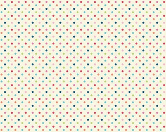 Riley Blake Flutterberry Cream Dots by Melly & Me (C4594 CREAM)